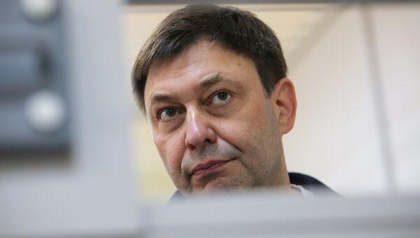 Кирилл Вышинский во время рассмотрения апелляции на арест в Херсонском суде. Архивное фото