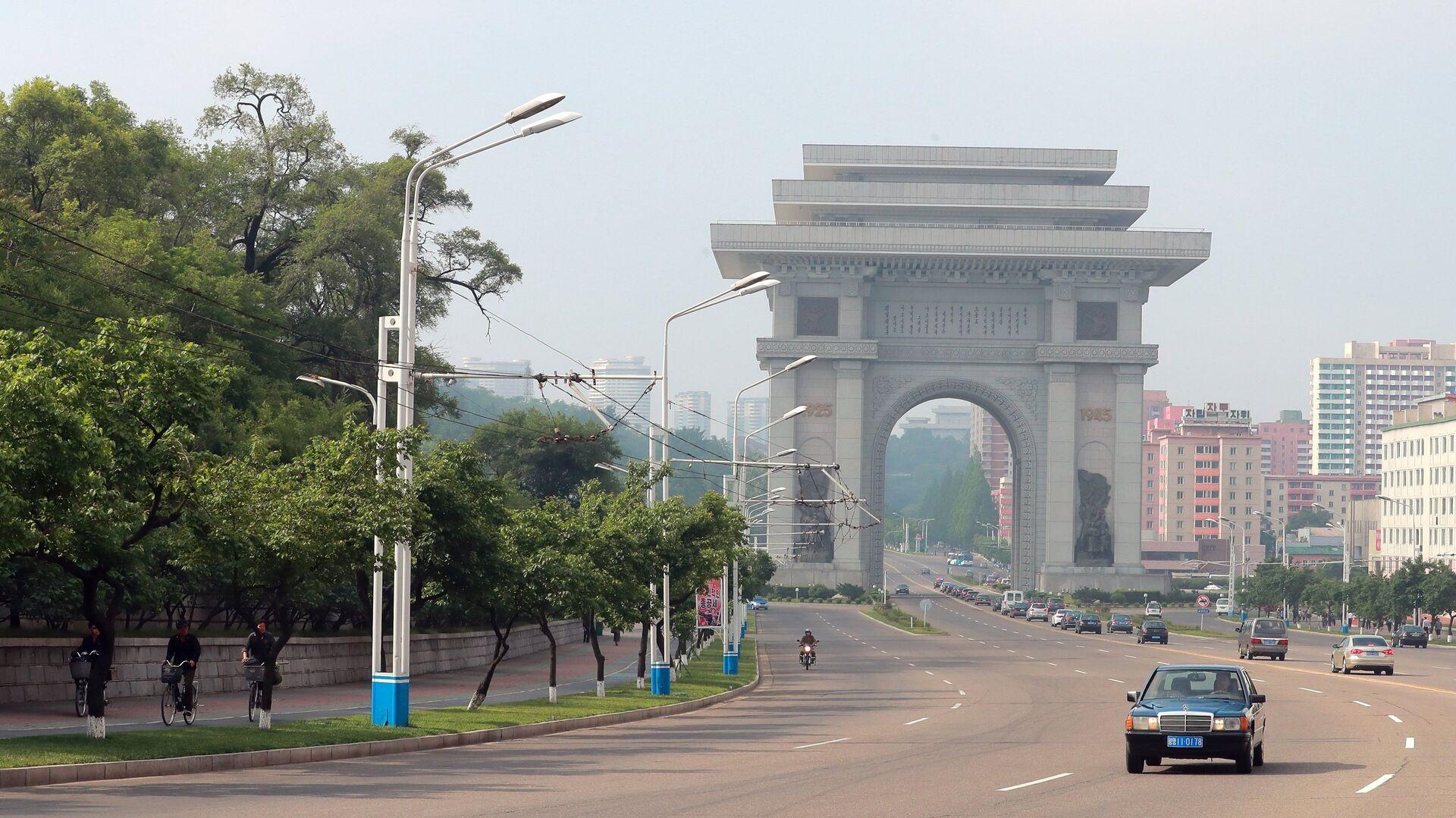 Триумфальные ворота в Пхеньяне - РИА Новости, 1920, 24.09.2021
