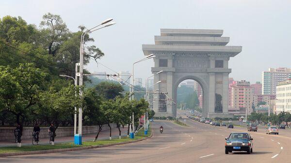 Триумфальные ворота в Пхеньяне. Архивное фото