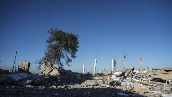 Разрушенные дома в провинции Эль-Хасаке на северо-востоке Сирии. Архивное фото