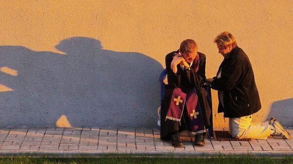 Католический фестиваль в деревне Будслав в Белоруссии