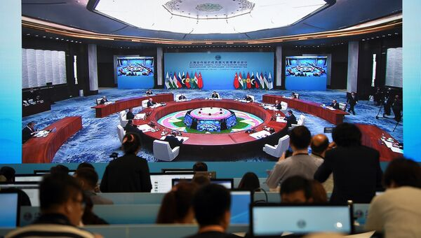 Лидеры стран ШОС на саммите в Циндао. 10 июня 2018