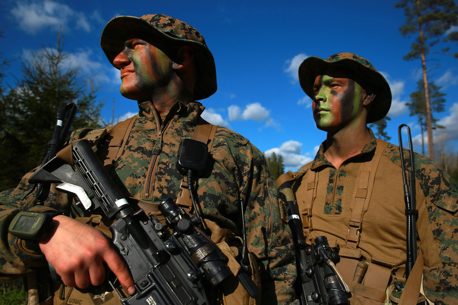 Военнослужащие армии США во время совместных учений войск НАТО в Эстонии - РИА Новости, 1920, 19.03.2021