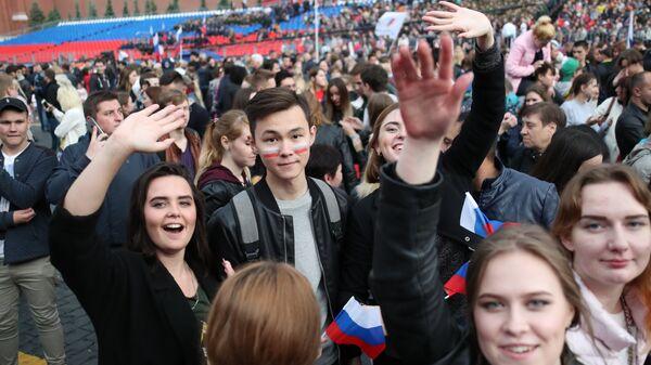 Участники праздничного концерта, посвященного Дню России