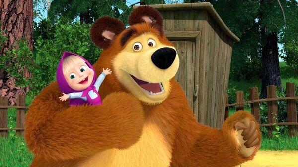 Кадр из мультфильма Маша и Медведь. Архивное изображение