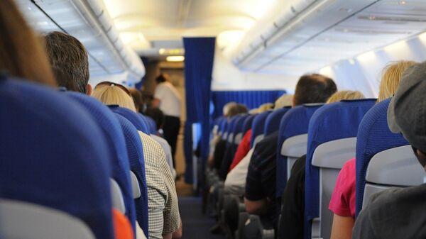 На борту самолета