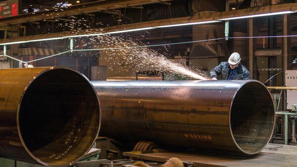 Производство труб для строительства газопровода Северный поток-2