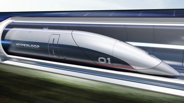 Поезд Hyperloop Transportation Technologies. Архивное фото