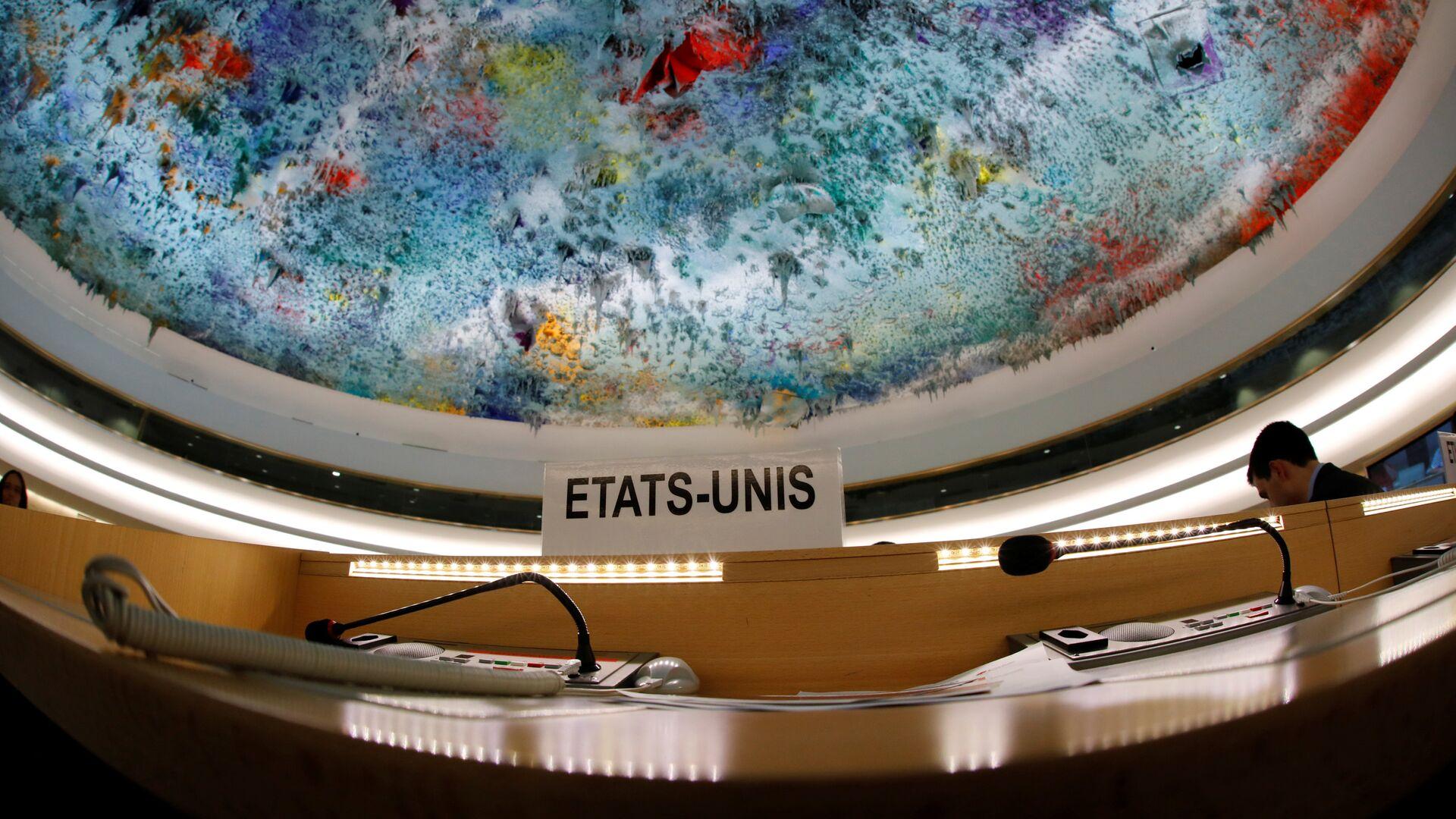 Пустые места делегации США на сессии Совета по правам человека при ООН в Женеве - РИА Новости, 1920, 08.02.2021