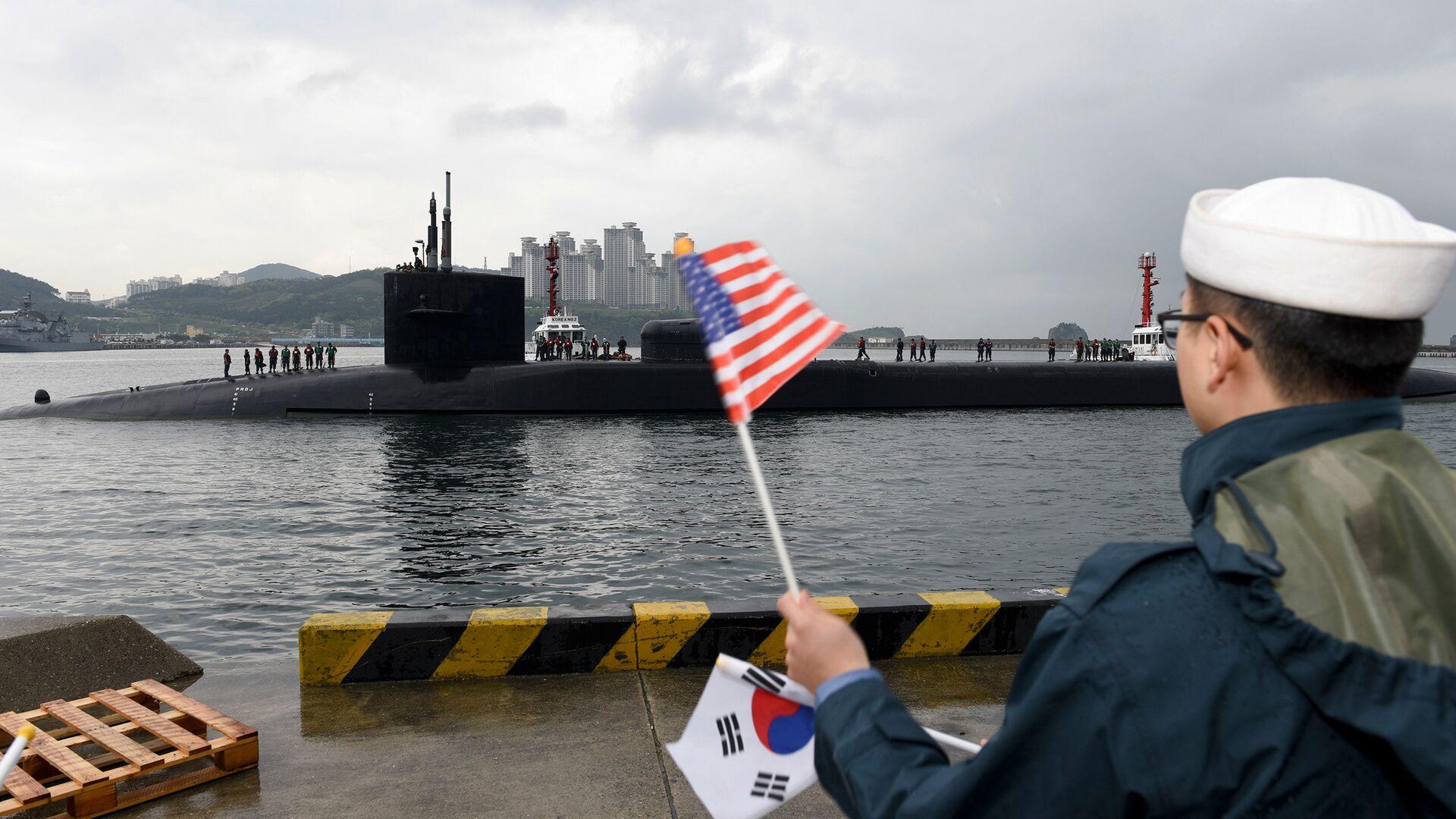 Американская подводная лодка USS Michigan - РИА Новости, 1920, 28.08.2020