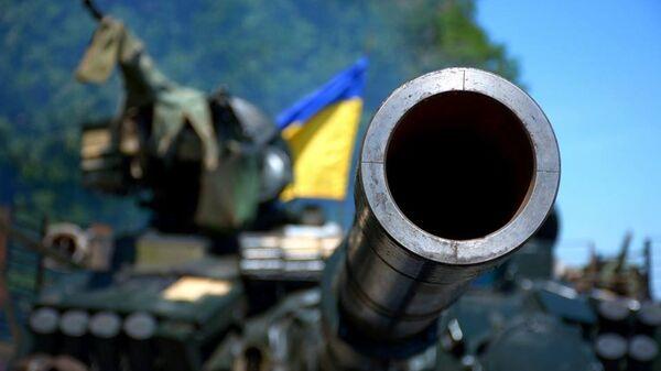 Военные учения украинской армии в Донецкой области