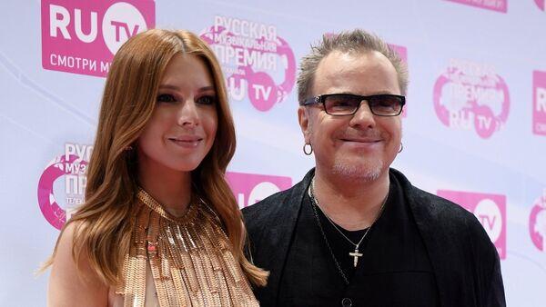 Певец Владимир Пресняков и его супруга певица Наталья Подольская