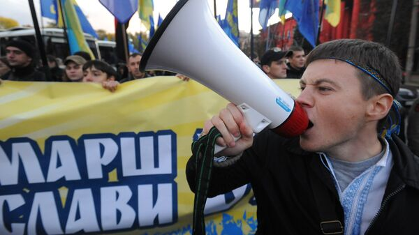 Марш националистов в Киеве. Архивное фото