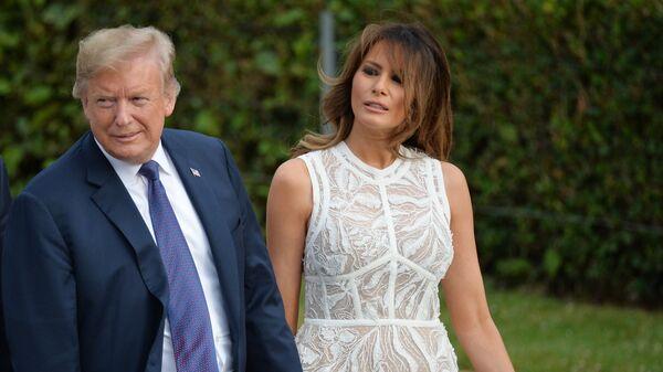Президент США Дональд Трамп и его супруга Меланья. Архивное фото