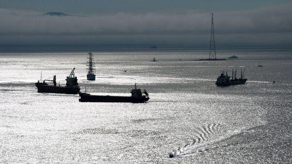 Суда в проливе Босфор Восточный во Владивостоке