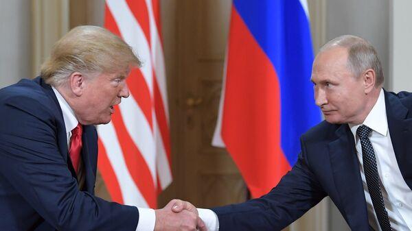 Встреча президента РФ Владимира Путина и президента США Дональда Трампа