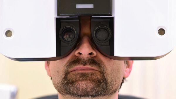 Пациент офтальмологического отделения