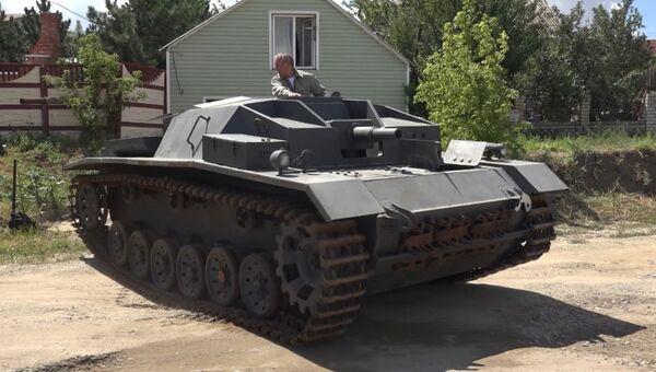 Умелец из Волгограда воссоздал немецкую самоходку StuG III