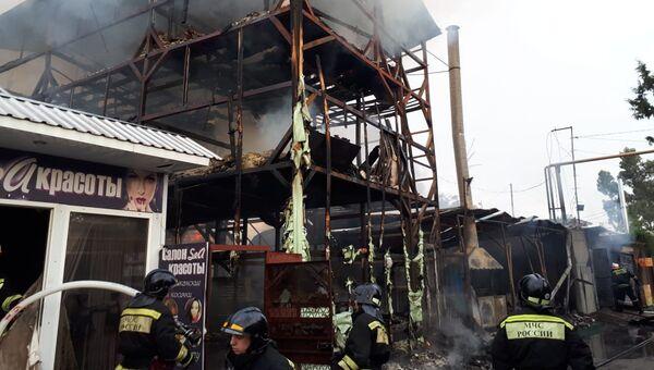 Пожар в частном доме в Сочи. Архивное фото