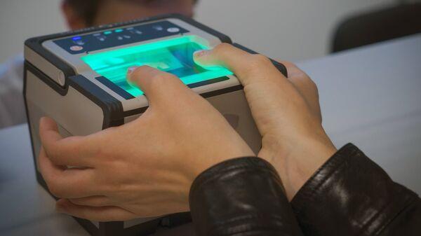 Процедура снятия биометрических данных