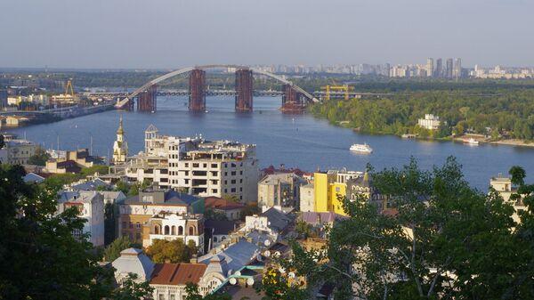 Вид на район Подол в Киеве