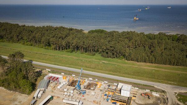 Подготовительные работы по укладке труб в рамках строительства магистрального газопровода Северный поток-2