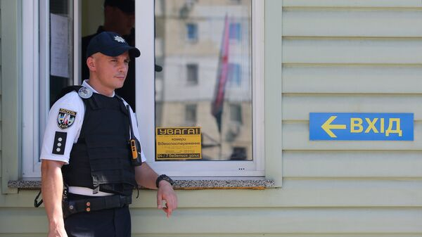 Сотрудник полиции в Киеве