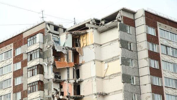 Разрушенная часть жилого панельного дома по Удмуртской улице в Ижевске