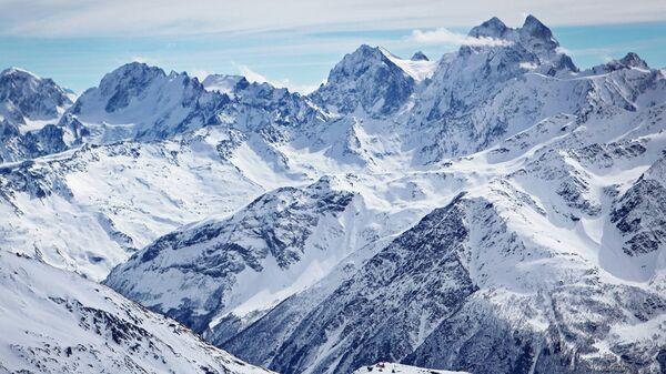 Вид на горы в Кабардино-Балкарии