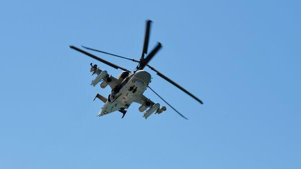Вертолет Ка-52 Аллигатор 4-й армии ВВС РФ