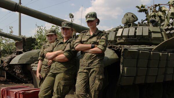 Женский экипаж танка