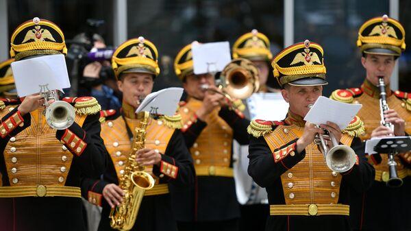 Выступление Центрального военного оркестра министерства обороны РФ