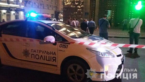 Сотрудники полиции возле здания горсовета в Харькове. 20 августа 2018