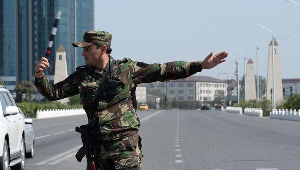 Сотрудник министерства внутренних дел Чеченской Республики. Архивное фото