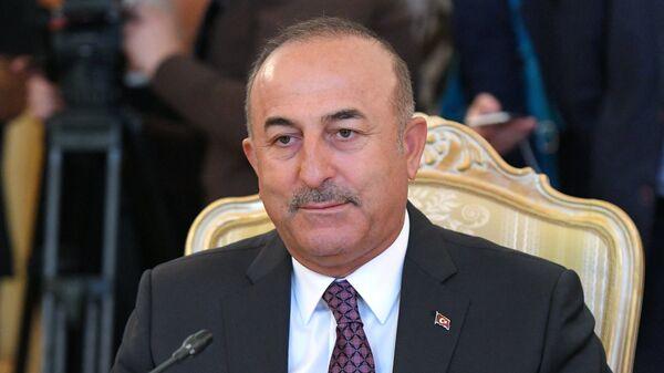 МИД Турции Мевлют Чавушоглу во время встречи с Сергеем Лавровым