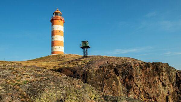 Северный маяк на острове Гогланд в Финском заливе. Архивное фото