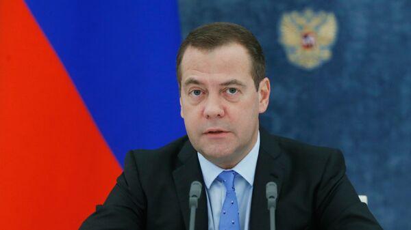 Председатель правительства РФ Дмитрий Медведев проводит заседание правительства РФ. 30 августа 2018