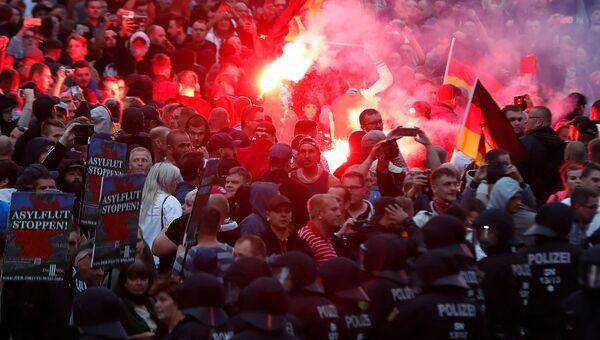 Акция протеста в Хемнице. Сентябрь 2018
