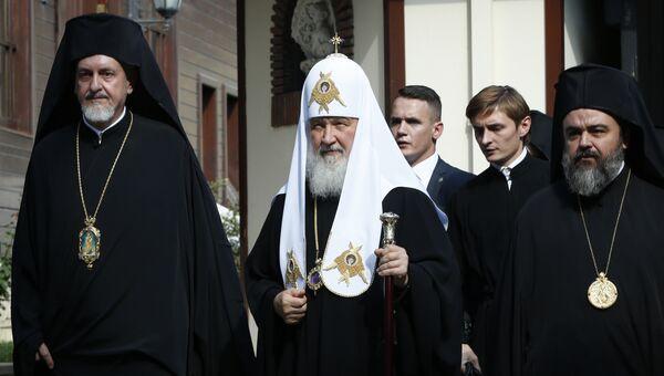 Патриарх Московский и всея Руси Кирилл во время визита в Стамбул. Архивное фото