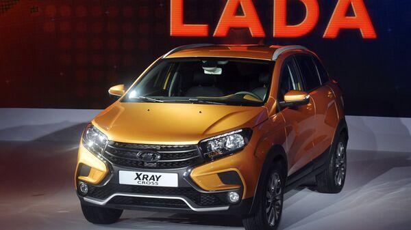 Автомобиль LADA XRAY Cross на Московском международном автомобильном салоне. Архивное фото