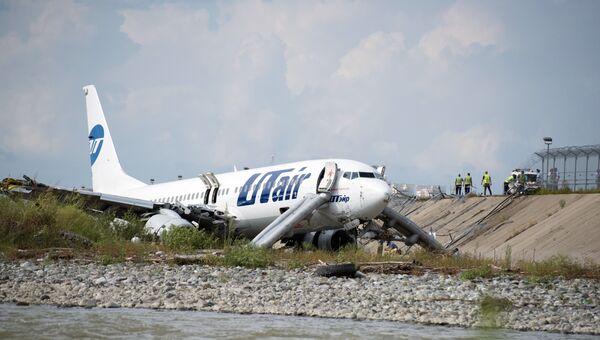 Самолет Boeing 737-800 авиакомпаниии Utair, рейса Москва - Сочи, совершил аварийную посадку в Сочи. 1 сентября 2018