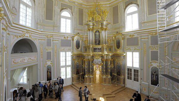 Церковный павильон Меншиковского дворца в Ораниенбауме после реставрации