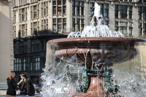 В Москве открылся сезон работы фонтанов