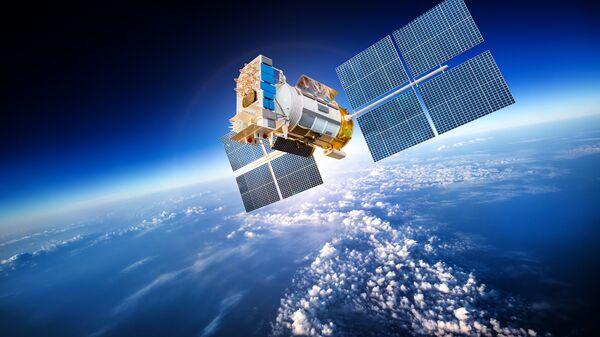 Космический спутник Земли. Иллюстрация