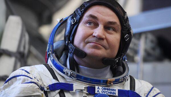 Член основного экипажа МКС-57/58 космонавт  «Роскосмоса» Алексей Овчинин. Архивное фото