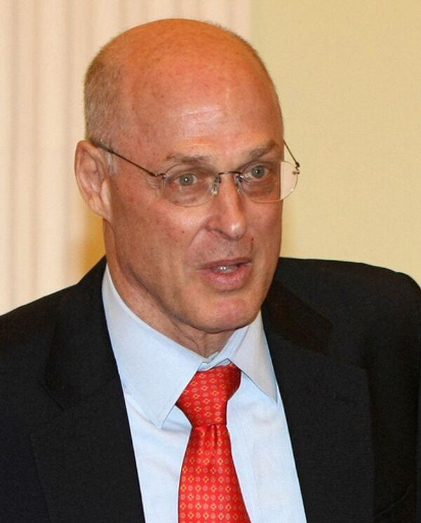 Министр финансов США Генри Полсон. Архив