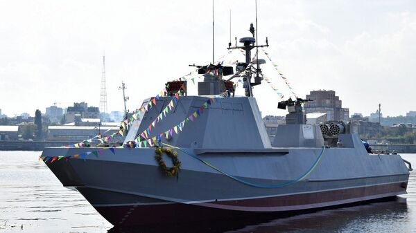 Спуск на воду катера Кентавр ВМС Украины