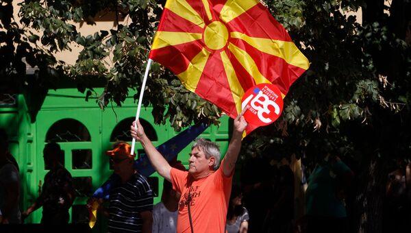 Митинг в поддержку референдума в Скопье, Македония. Архвное фото