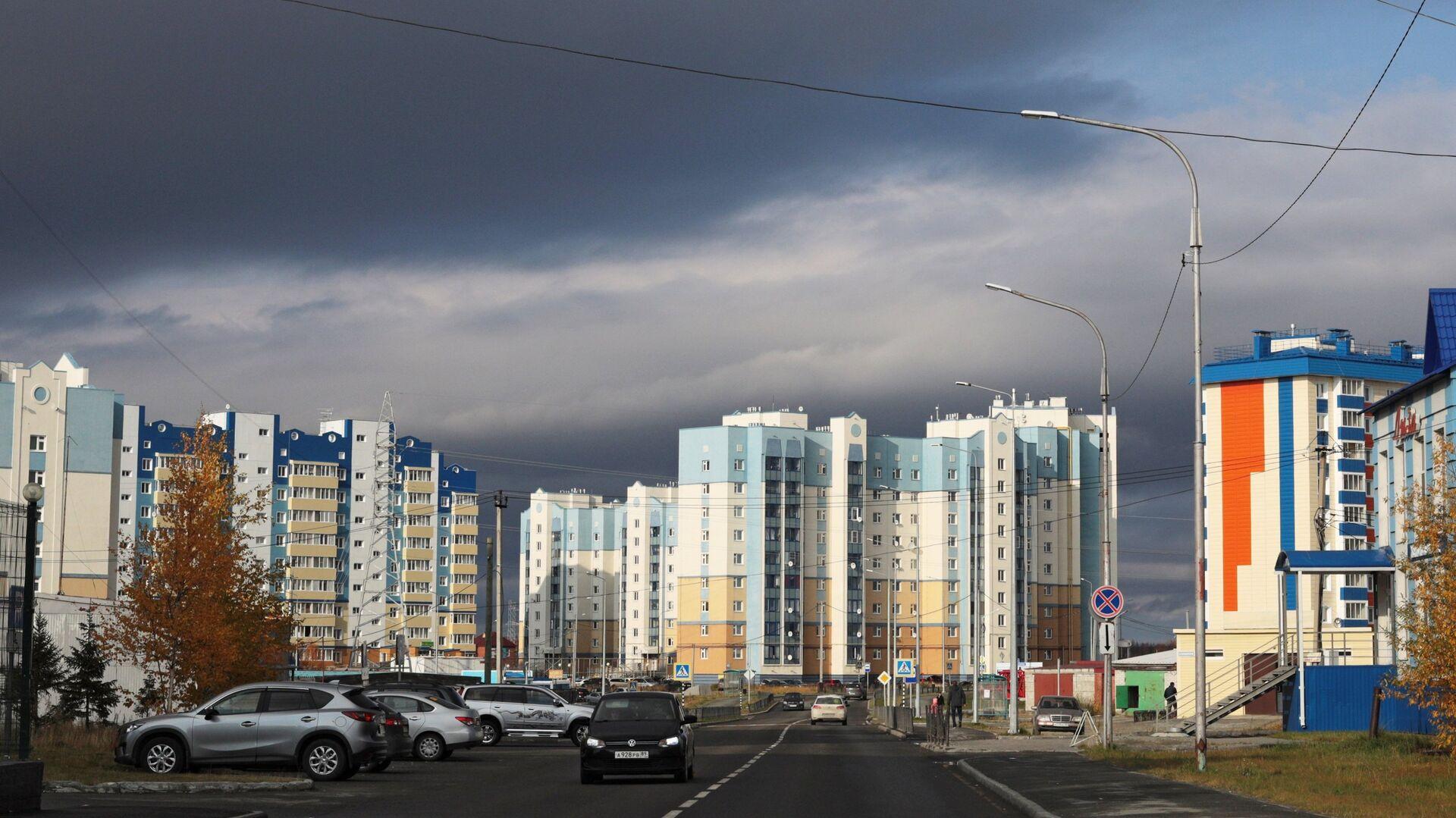 Современная жилая застройка в Салехарде  - РИА Новости, 1920, 25.08.2021