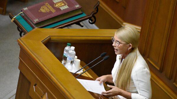 Лидер всеукраинского объединения Батькивщина Юлия Тимошенко